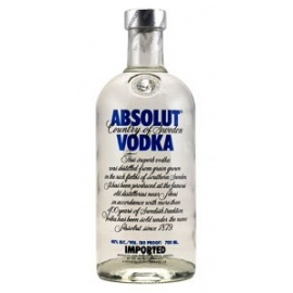 Absolute blue vodka