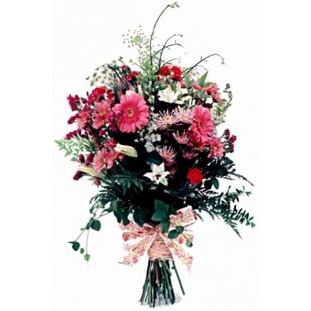 Mixed Pinks Country Bunch Long Stemmed Cut Flowers