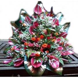 Side Arrangement Flower Mix