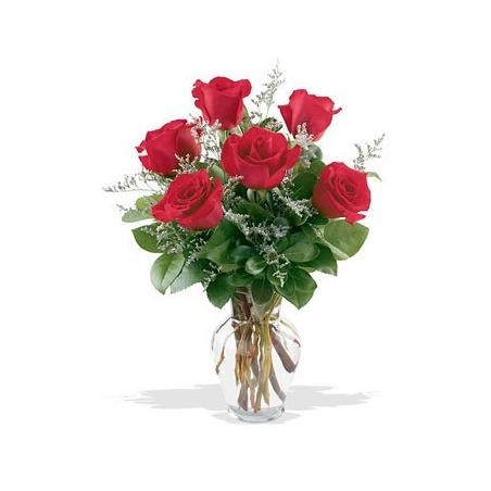 Half Dozen Roses Arranged