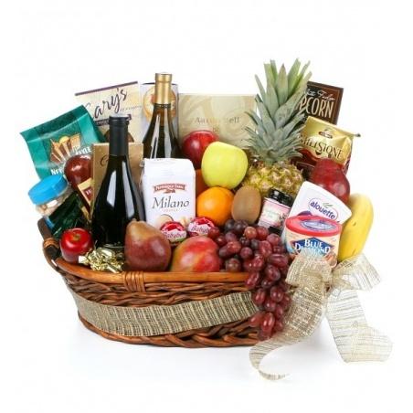 Gourmet Uganda Fruit & Wine Basket