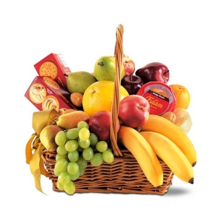 Warmhearted Wishes Fruit & Gourmet  Gift Basket