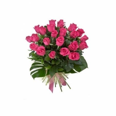 LONG STEM PINK ROSES FLOWER BOUQUET