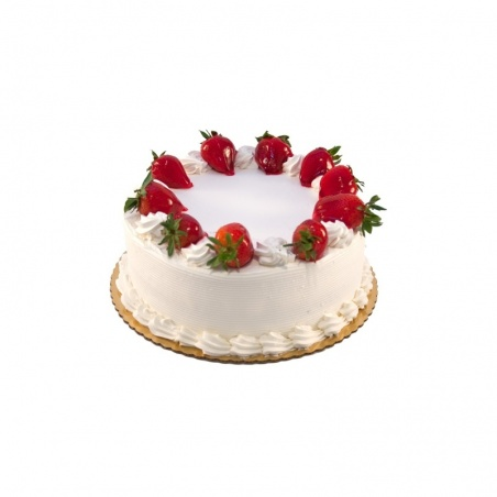 Bithday fresh white Cream Cake (Size 12)