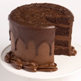 Fresh Cream Chocolate Cake birthday best wishes (size 12)